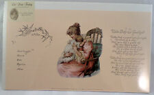 Old Print Factory Baby'S Birth Record Certificate Poem For Framing #Crt003