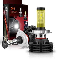 2pcs H4 9003 HB2 LED Headlight Bulbs Conversion kit High Low Beam Combo 6500K