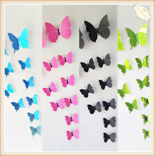 Magnet Removable 3D DIY Butterfly Wall Stickers Kids Art Nursery Xmas Decoration