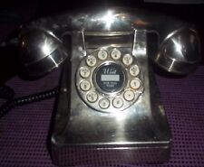CROSLEY DESK PHONE SILVER In Color Push Button Looks Like Dial