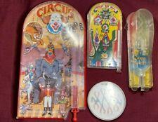 Vintage Handheld Pin Ball Pinball Game Lot Circus Skee Skill Pocket Pinball