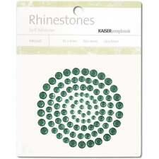 Kaisercraft - Rhinestones - DARK GREEN - Self Adhesive - sb708 - Crystal - Gems