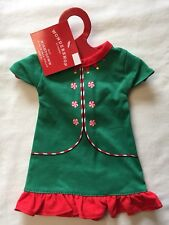 "Wondershop Target Green Elf Nightgown Pajamas Christmas Dress Fits 18"" Dolls NWT"