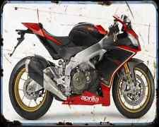 Aprilia Rsv 4 Factor Sbk 13 A4 Metal Sign Motorbike Vintage Aged