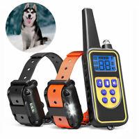 Collier de dressage anti aboiement chien électrique pour 2 chiens