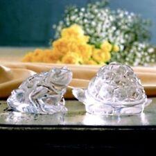 Garden Serenade Crystal Salt & Pepper Set - Frog & Turtle - Great Gift - Cute!