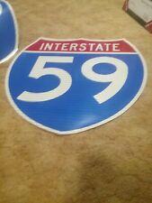36x36 Interstate 59 Alabama Georgia Decal Sign Dot Print Road Please Read