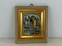 Vintage Framed Painted Enamel Plaque of Masstricht by Gerrard Hack-Rutten