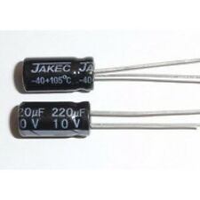 E-Projects - 220uF 10V 105c Radial Electrolytic Capacitor (5 Pcs)