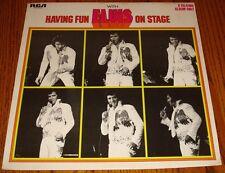ELVIS PRESLEY  HAVING FUN WITH ELVIS ON STAGE ON TAN LABEL LP 1974