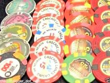 2 ✯ CASINO POKER CHIPS GENUINE COLLECTION ✯ BLOWOUT SALE ALMOST 200 CASINO'S