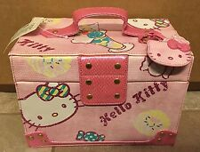 Hello Kitty Makeup Box Jewelry Train Case Mirror Storage RARE collectable Candy