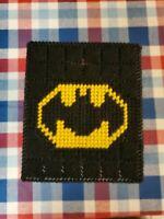 Handmade Needlepoint Plastic Canvas Tissue Box Cover - Batman TBC