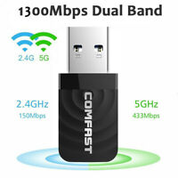 1200Mbps Wireless USB 3.0 Wifi Adapter Dongle Dual Band 2.4G/5GHz PC 802.11AC