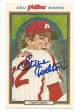 STEVE CARLTON Signed 1983 Great Moments post card Philadelphia Phillies COA
