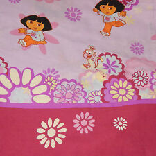 VINTAGE 2000 DORA THE EXPLORER TWIN SIZE FLAT SHEET~CRAFT FABRIC CUTTER