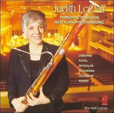 Judith LeClair classical bassoon CD Osborne Reynolds Schumann Telemann Weber