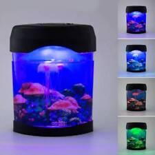 LED Jellyfish Tank Mood Light Aquarium Style Relaxing Colour Changing Desk Lamp