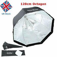 "Reino Unido Godox 47"" 120cm Octagon Sombrinha Softbox Para Flash Speedlite Universal Studio"