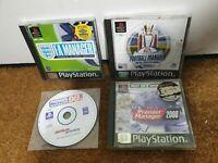 Premier Manager 98 2000 FA Manager 2001 - PS1 Playstation 1 Bundle