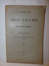 Geografia Storia, Grossi: Emigrazione Italiana in America e Brasile 1895 Bertero
