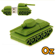 Tank USB Stick, 32GB 3D Quality Cartoon USB Flash Drives WeirdLand