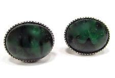 SoHo® Ohrstecker vintage 1960´s bohemia japis grün handgemachte glassteine 60er