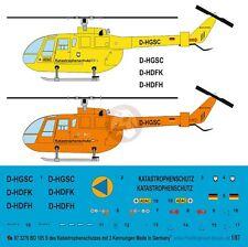 Peddinghaus 1/87 (HO) Bo 105S Rescue Helicopter Markings Katastrophenschutz 3278