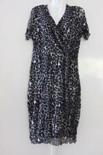 Knee Length Animal Print with Cap Sleeve Dresses for Women
