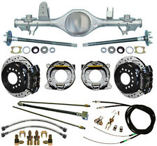 CURRIE 97-06 JEEP WRANGLER TJ REAR END & WILWOOD DRILLED DISC BRAKES,BLACK CAL.