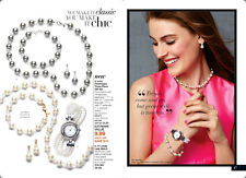 Avon Lucy Pearlesque 3-Piece Gift Set Pearl Cream Earrings Necklace Bracelet BN