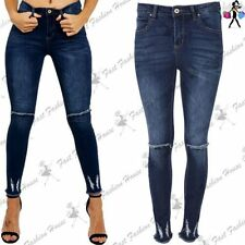 Cotton Distressed Slim, Skinny Jeans for Women