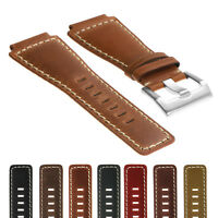 DASSARI Vintage Leather Watch Band Strap for Bell & Ross B&R BR-01 and BR-03