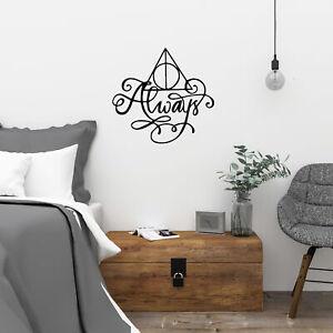 Harry Potter Deathly Hallows Always Vinyl Wall Art Decal Sticker Kids Bedroom