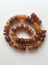 Strand Of Old Antique Yellow Baltic Amber Beads 48 grams