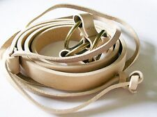 Hobbs Lariat Belt beige cream leather slimline Size L adjustable fit brand new