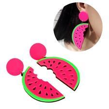 1Pair Fine Fruit Red Watermelon Acrylic Ear Stud Earrings Punk Jewelry BY US