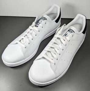 Adidas Originals Stan Smith Vegan Sneakers Shoes White Blue Men's Size 10.5