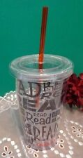 """Scholastic Books Read Insulated Tumbler Plastic Cup New Straw 6"""""""