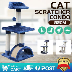Pet Cat Tree Trees Scratching Post Scratcher House Furniture Wood Tower Bed Toys