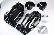 HARLEY DAVIDSON TOURING LOWER VENTED FAIRINGS PAINTED VIVID BLACK