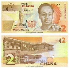 Ghana 2 Cedis 2013 P-37Ab Banknotes UNC