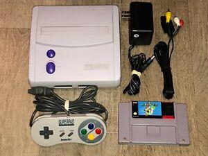 Super Nintendo Console System Mini Jr. Snes w/ Super Mario World Complete