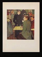Toulouse-Lautrec 1952 Lithograhed Print. Corner in the Moulin de la Galette-1892