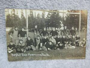 1913 VANCOUVER Wa BREAKERS FOOTBALL TEAM Photo RPPC POSTCARD  20-30 Year-Old Men