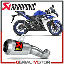Exhaust Stainless Steel Muffler Akrapovic for Yamaha YZF-R3 2015 > 2016