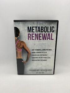 Metabolic Renewal DVD 4 Phase Workout Videos + Body-Sculpting Burnouts Jade Teta