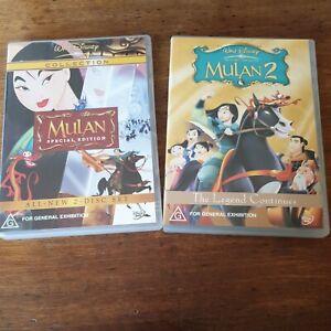 Mulan Special Edition + Mulan 2 Disney DVD R4 Like New! FREE POST