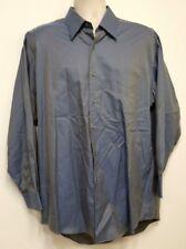 PRONTO UOMO Blue 100's 2 Ply Dress Shirt Long Staple Cotton Dobby - 16 1/2 32/33