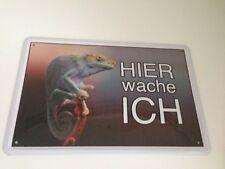 Chamäleon Erdlöwe Iguana Hier wache ich ! Tierwarnschild - Blechschild 14